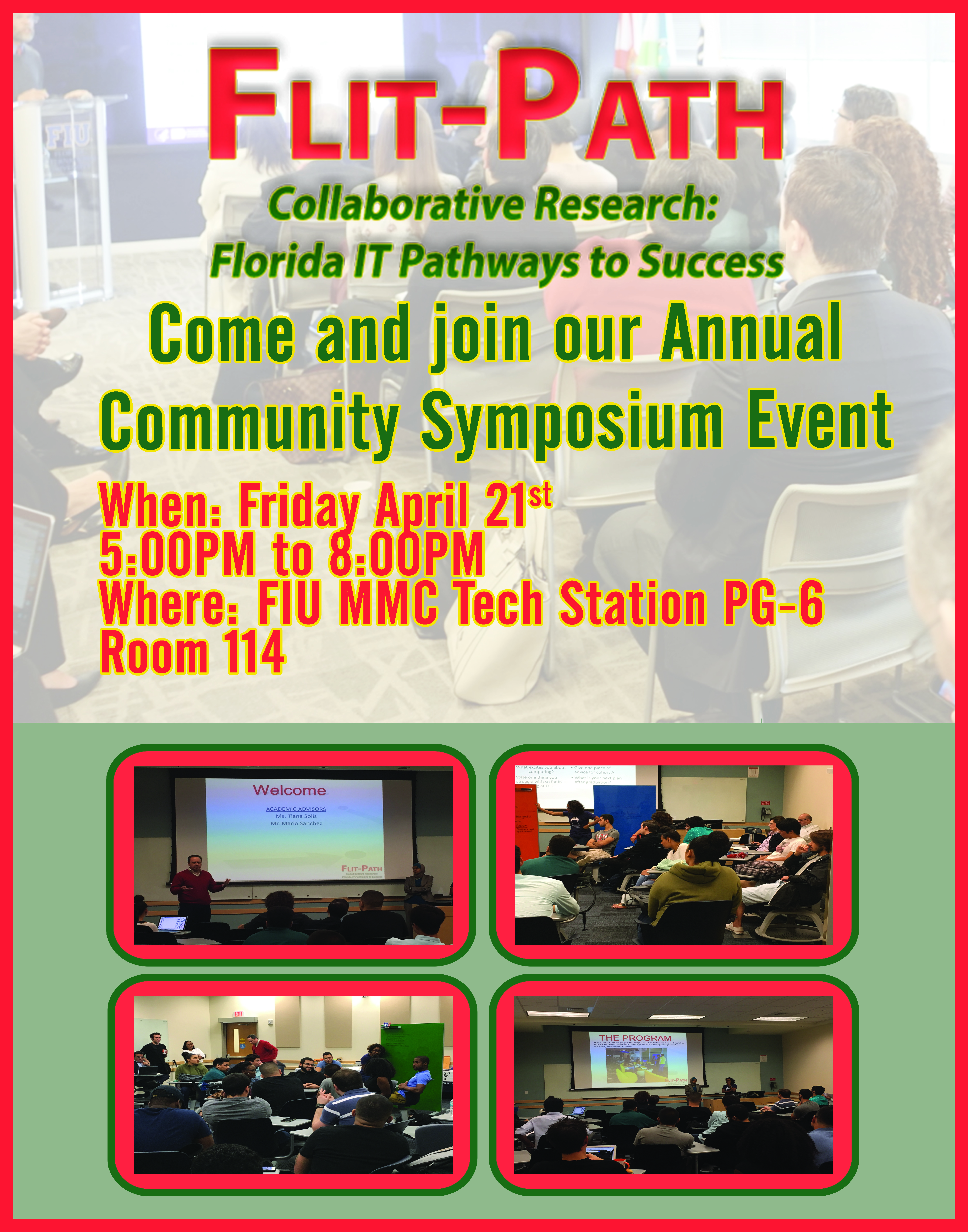 Flit-Path Symposium at FIU flyer